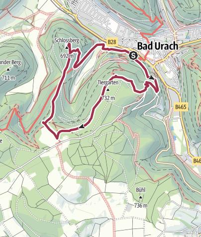 Karte / Hohenurachsteig Bad Urach