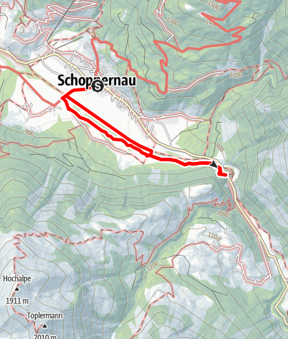 Karte / Au-Schoppernau   Armenseelekapelle