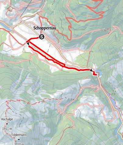 Karte / Au-Schoppernau | Armenseelekapelle