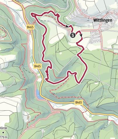 Karte / Hohenwittlingensteig Bad Urach
