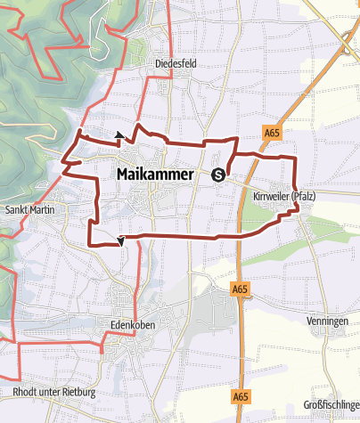 Map / Maikammer-Erlebnisland/Pfälzer Mandelpfad (Rundweg)