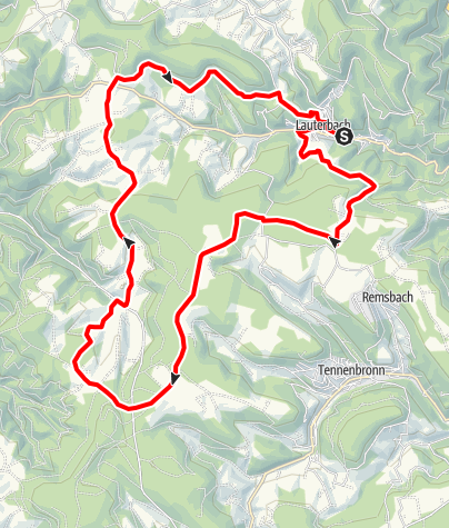 Karte / Lauterbach - Wilhelm-Kimmich-Tour
