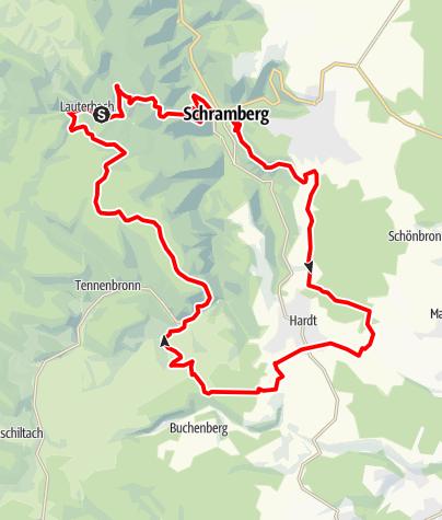 Karte / Lauterbach - 3-Gemeinden-Tour