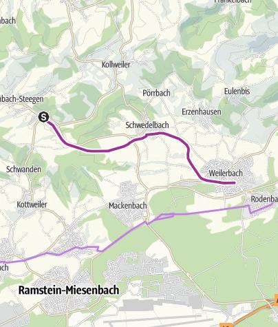 Karte /  Pfälzer Land Radweg   Familientour