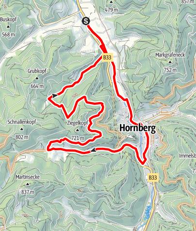 Karte / Gutach - Obertaltour