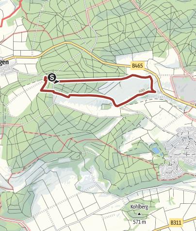 Karte / Besinnungsweg Teilstück 1 / 4 km: Um die Stoffelbergkapelle bei Altsteußlingen