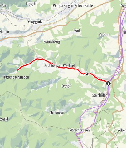 Mapa / Feistritztal-Radweg