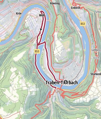Karte / T 10 - Auf Goethe's Spuren in Traben-Trarbach