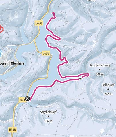 Karte / Okertalsperre (nur Waldseite)