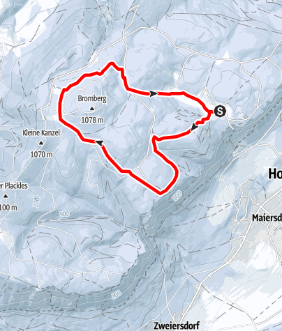 Karte / Naturpark Hohe Wand - Wanderung über den Wolken
