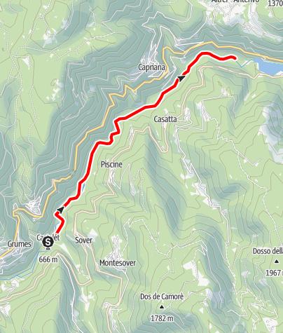 Mappa / Torrente Avisio C1 alta
