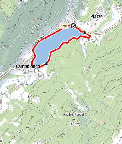 Mappa / Lago Piazze