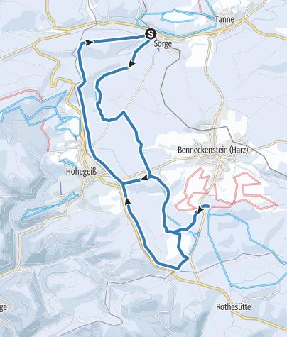 Karte / Grenzloipe Rundkurs
