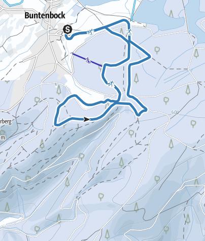 Karte / Wanderloipe am Ziegenberg