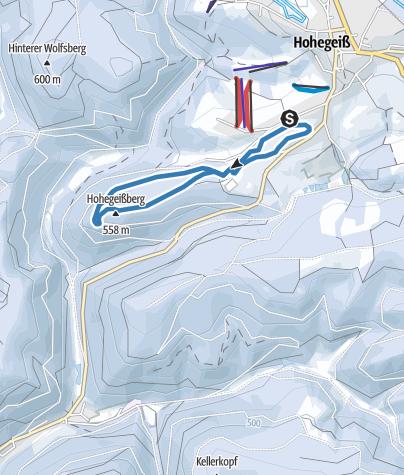 Karte / Bohlwegloipe