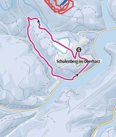 Karte / Kurübungsweg 1, rund um den Ort