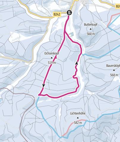 Karte / Winterwanderweg Dammbachtal