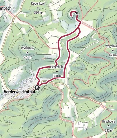 Karte / Zur Burgruine Lindelbrunn