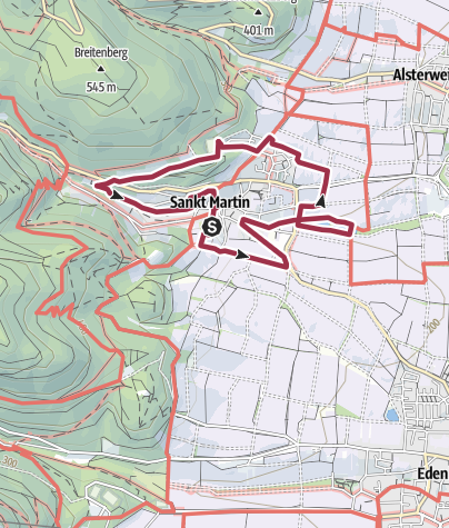 Karte / St. Martin - EXPO-Rundweg/St. Martin
