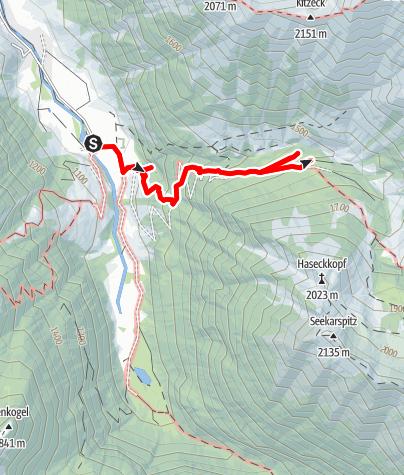 Karte / Hüttschlag: Kreealmen
