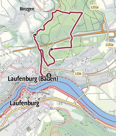 Karte / Laufenburg: Naturpfad