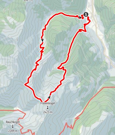 Karte / Großarl: Aigenalmen - Schmalzscharte - Bachalm
