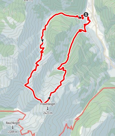 Map / Grossarl: Aigenalmen - Schmalzscharte - Bachalm
