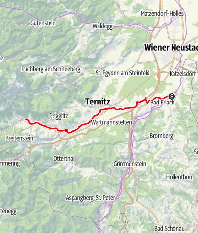 Karte / Schwarzatal Radroute