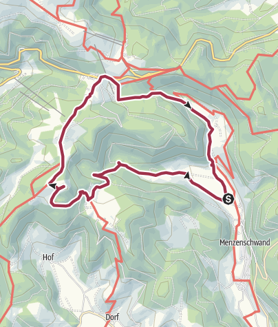 Karte / Von Menzenschwand zum Herzogenhorn