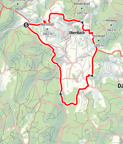 Map / Ibach: Paht for Connoiseurs - Ibacher Panoramaweg