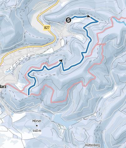 Karte / LZ 1 - Zubringerweg zur Südharzloipe