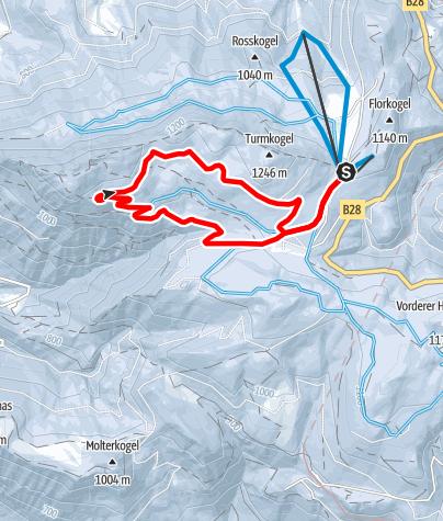 Karte / Puchenstuben - Klausgraben