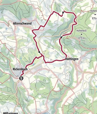 Karte / Rickenbach: Zum Energiemuseum und dem geschichtsträchtigen Totenbühl