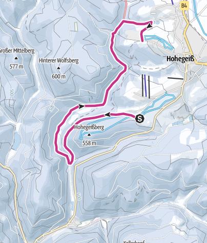 Karte / Alte Bobbahn - Wolfsbachtal - Gretchental