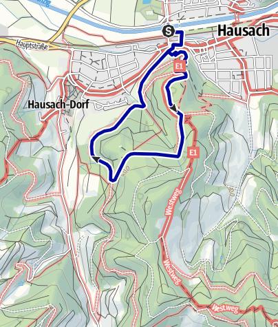 Karte / Hausach von oben