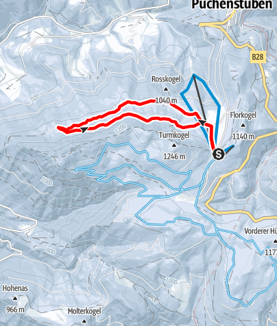 Mapa / Puchenstuben - Brandmäuer Loipe