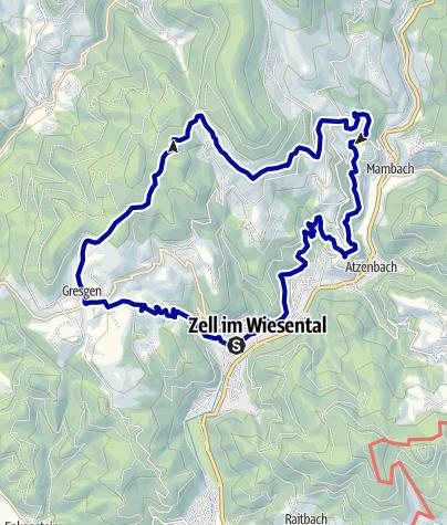 Karte / Wanderung im Zeller Bergland