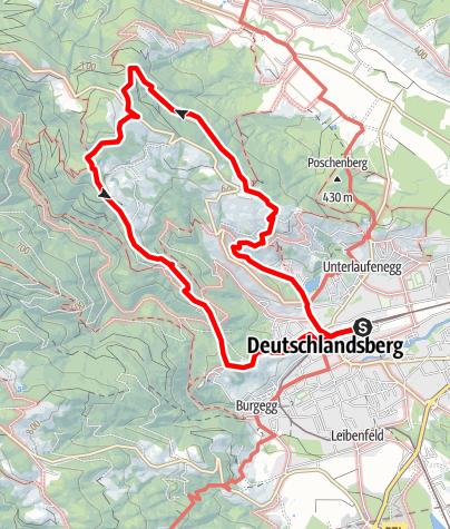 Karte / Schilcherweg - S, Großer Oberlaufenegger Rundweg Variante 1