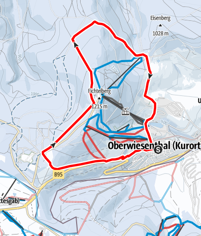 Karte / Winterwandern - Rund um den Fichtelberg Kurort Oberwiesenthal