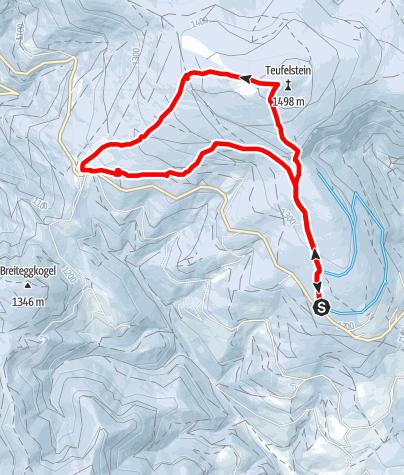 Karte / Teufelstein - Eine sagenhafte Schneeschuhwanderung
