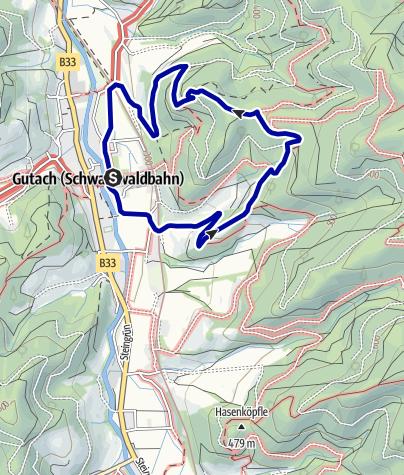 Karte / Gutach - Kleine Mosersteinrunde