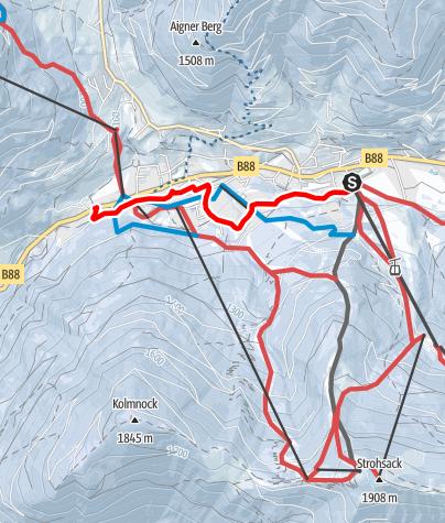 Map / WW 08: Bad Kleinkirchheim - Talweg