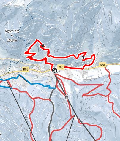 Map / WW 10: Bad Kleinkirchheim - Panoramaweg Römerbad