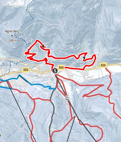 Karte / WW 10: Bad Kleinkirchheim - Panoramaweg Römerbad