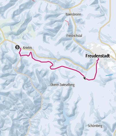 Karte / Winterwandern zwischen Kniebis und Freudenstadt