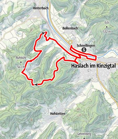 Karte / Haslach Dochbach-Tour