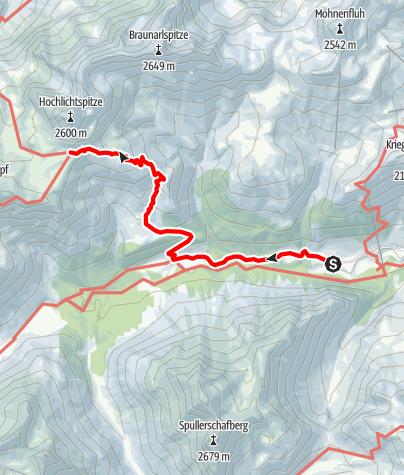 Karte / Zustieg Göppinger Hütte über Gasthaus Älpele