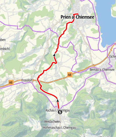 Karte / Priental-Tour