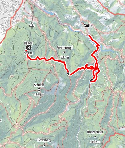 Karte / Dornbirn: Karren - Staufensee - Gütle