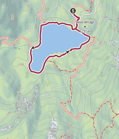 Cartina / Giro del Lago di Tovel